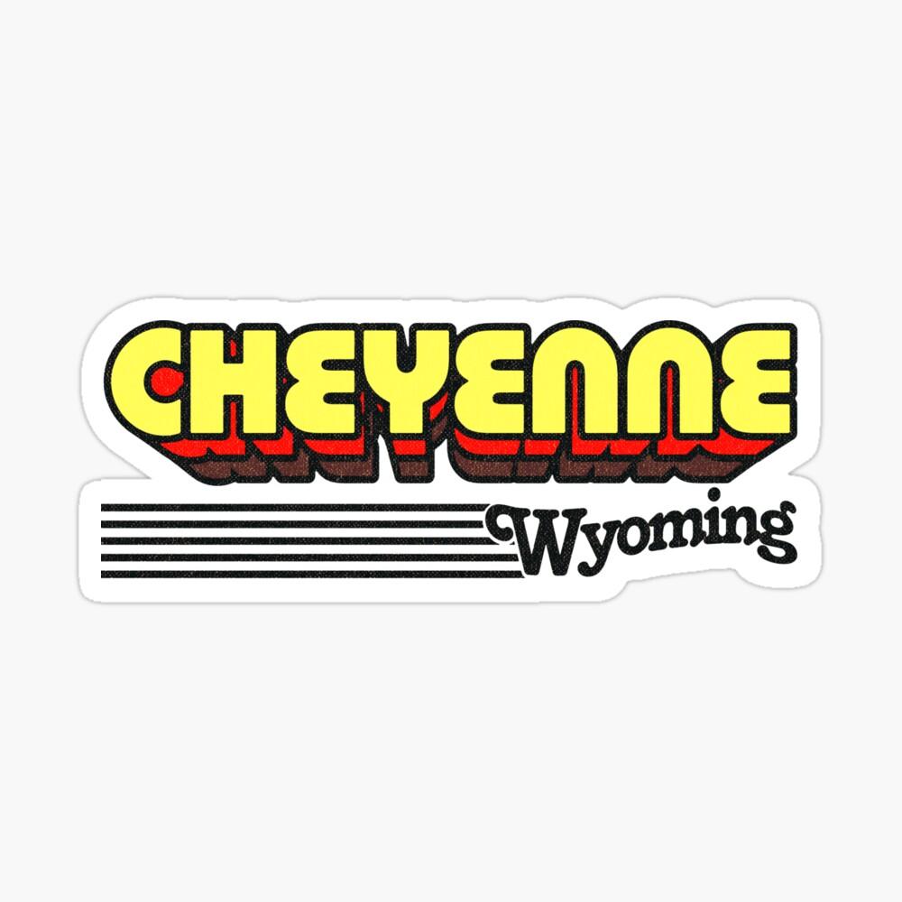 Cheyenne, Wyoming | Retro Stripes Sticker