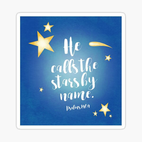 He Calls By Name (Blue) Sticker