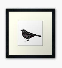 Blackbird Doodles Lyrics (Übersetzung) Gerahmtes Wandbild