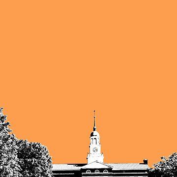 Bucknell University Betrand Library Orange Design by Claireandrewss