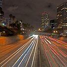 7th street and Harbor freeway by Eyal Nahmias