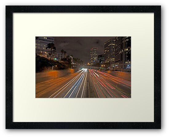 7th street and Harbor freeway by Eyal Nahmias