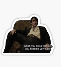 when you are vampire you become very sexy Sticker