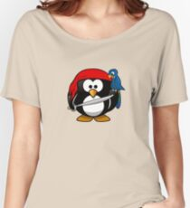 Boy Pirate Penguin Women's Relaxed Fit T-Shirt