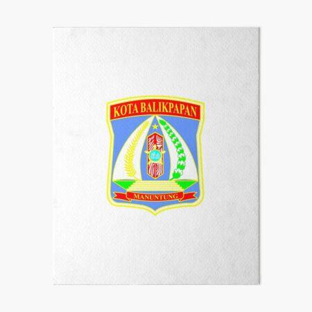 Seal Of Balikpapan Indonesia Art Board Print By Pzandrews Redbubble