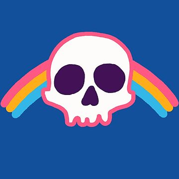 Rainbow Skull by wytrab8