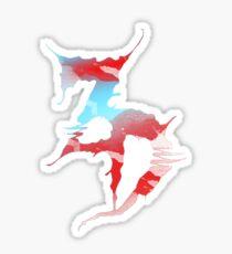 Zeds Dead EDM flag sticker Sticker