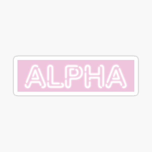 PINK NEON SIGN- Greek Letter ALPHA Sticker