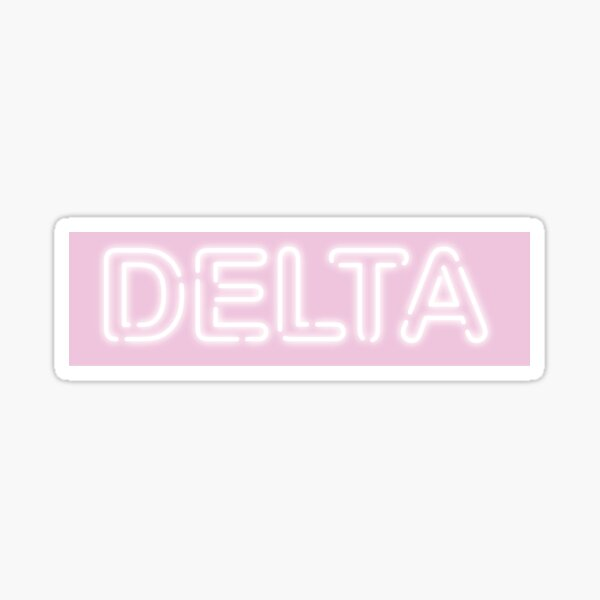 PINK NEON SIGN- Greek Letter DELTA Sticker