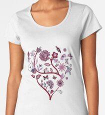 Fantasy Indian Floral - elegant, romantic pattern by Cecca Designs Women's Premium T-Shirt