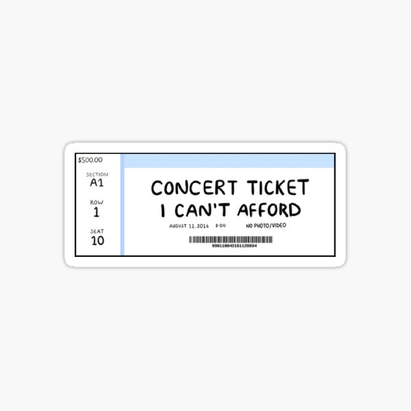 Concert Ticket Sticker