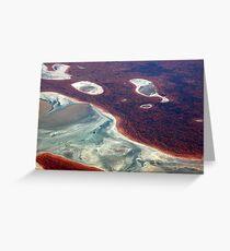 fluid landform Greeting Card