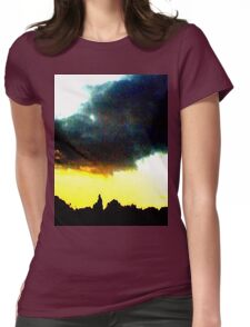 Yellow Sunset Womens Fitted T-Shirt