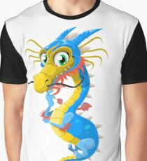 Thoughtful Floating Dragon Graphic T-Shirt