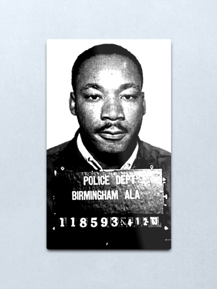 Alternate view of MLK Birmingham Mugshot Metal Print