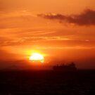 Sunset in Brighton by Elena Martinello