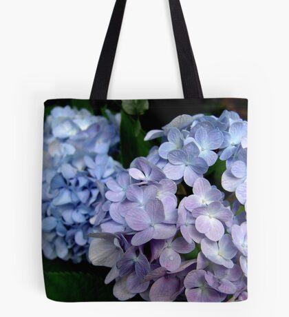 Lavender and blue hydrangea Tote Bag