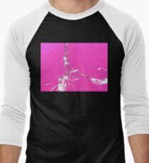 Shocking Pink Men's Baseball ¾ T-Shirt
