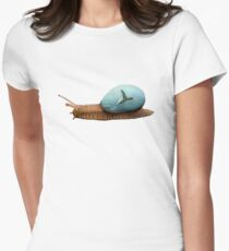 Turtle in a snails shell Women's Fitted T-Shirt