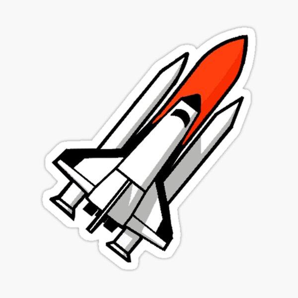 Space Shuttle rocket Sticker