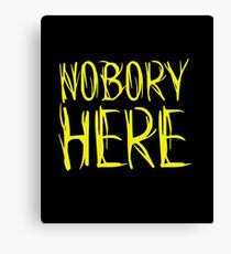 Nobory Here Canvas Print
