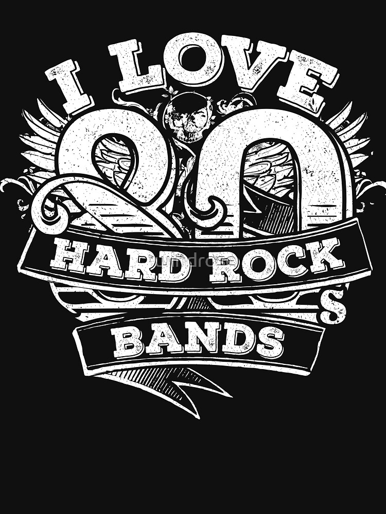 i love 80s hard rock bands unisex t shirt by windrose redbubble Cyndi Lauper i love 80s hard rock bands by windrose