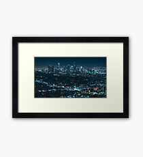 Cityscape At Night Framed Print