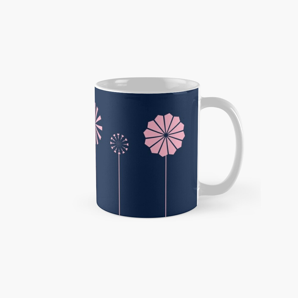 Pink Flowers at Night Classic Mug