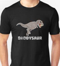 Daddysaur Dinosaurier Vatertag Geschenk Idee Unisex T-Shirt