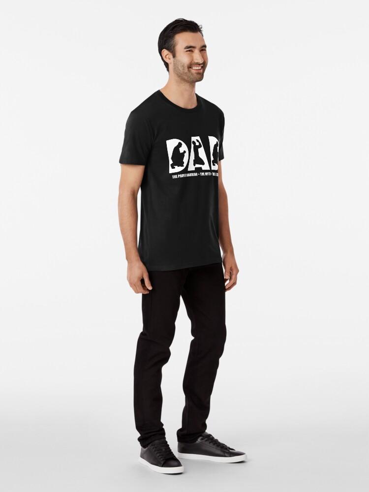 Alternate view of Christian Prayer Warrior Dad Gift Apparel Shirt Premium T-Shirt
