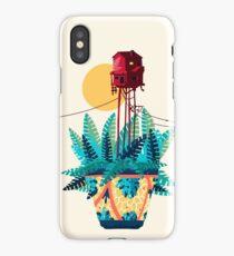 Casita en maceta con plantas iPhone Case/Skin