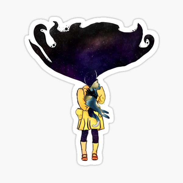 If Solar System was a girl Sticker