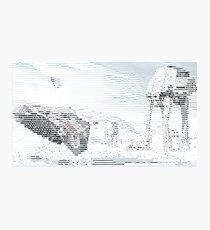 ASCII ATAT HOTH Photographic Print