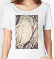 Retro Trees in Hoarfrost Women's Relaxed Fit T-Shirt