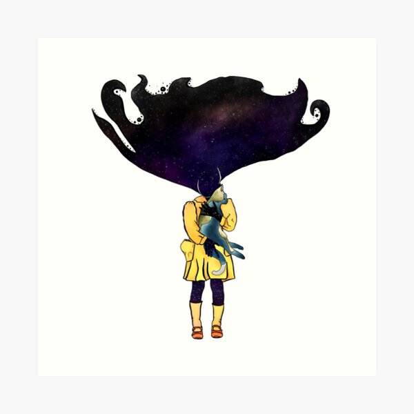If Solar System was a girl Art Print