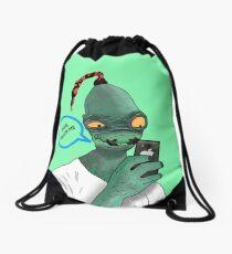 Modern Day Abe Drawstring Bag