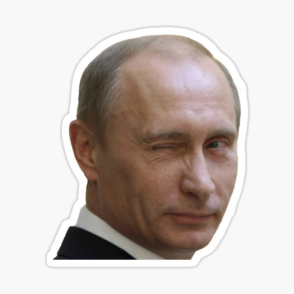 Putin Wink Sticker