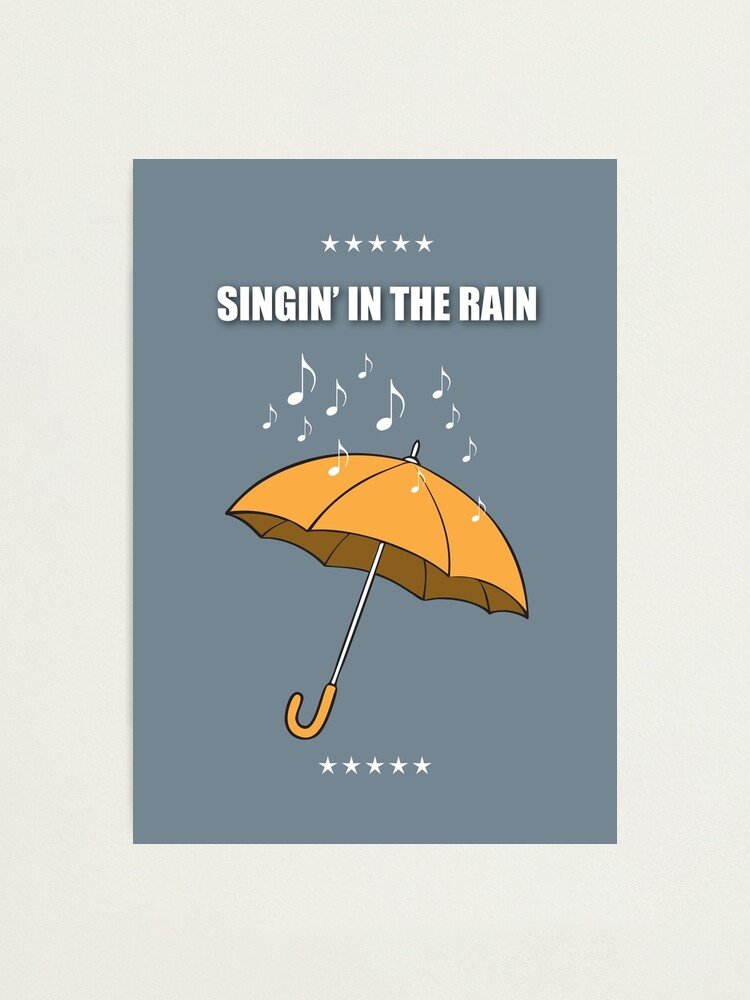 Alternate view of Singin' In The Rain - Alternative Movie Poster Photographic Print