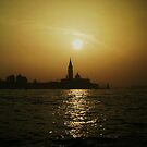 Sunset leaving Venice by Martina Fagan