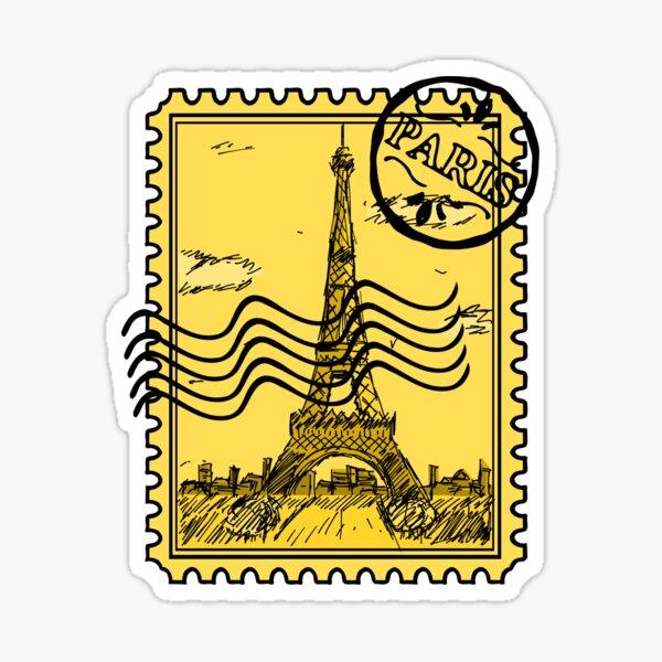 Paris Stamp - Gold Sticker