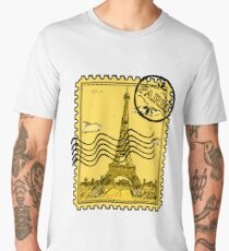 Paris Stamp - Gold Men's Premium T-Shirt