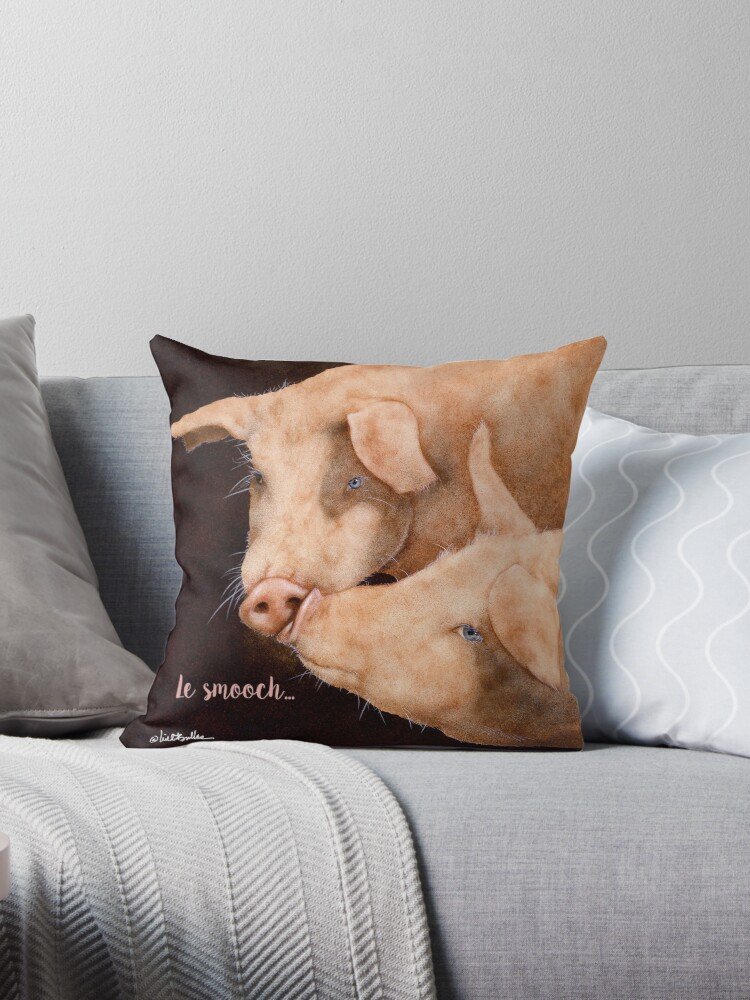 Will Bullas / pillow / tote /  le smooch... / humor / animals by Will Bullas