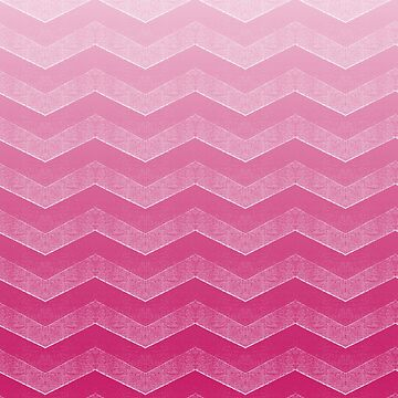 Bold Hot Pink Peacock Chevron Ombre by coverinlove