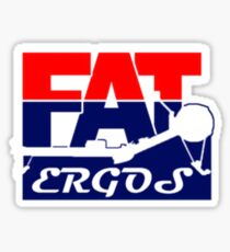 Fat Ergos official products Sticker