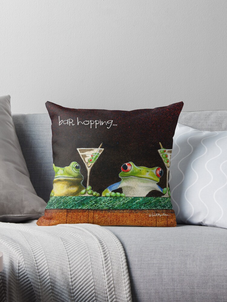 Will Bullas / pillow / tote / bar hopping... / humor / animals by Will Bullas