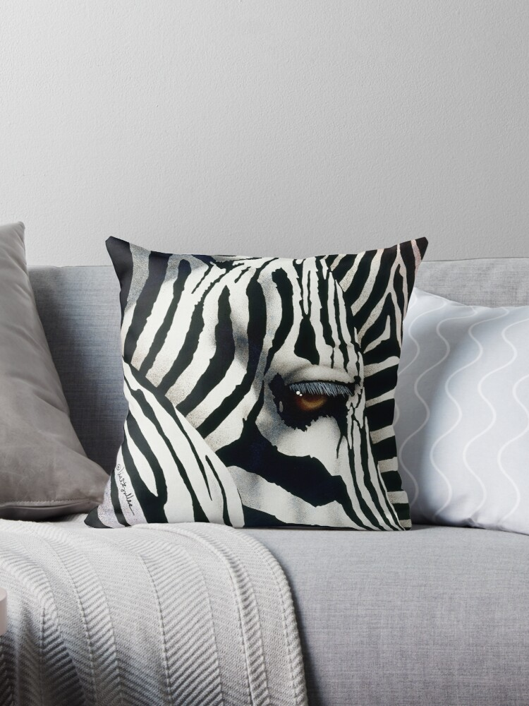Will Bullas / pillow / tote / do zebras dream in color?... / humor / animals by Will Bullas