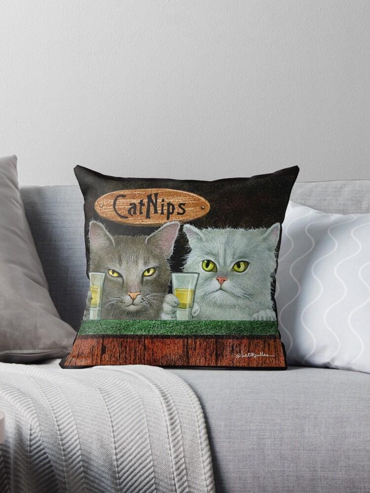 Will Bullas / pillow / tote / catnips... / humor / animals by Will Bullas
