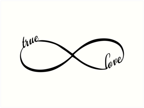 True Love True Love Printinfinity Infinity Symbol Printable