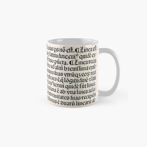 Euclid decorative printed initial  – State Library Victoria Classic Mug