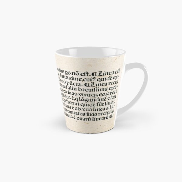 Euclid decorative printed initial  – State Library Victoria Tall Mug